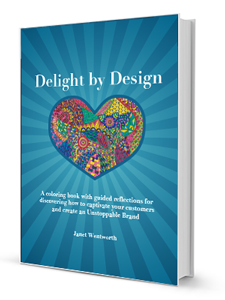 Delight by Design: Brand coloring book